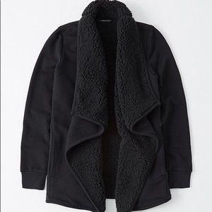 a&f • sherpa cardigan